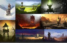 ArtStation - Environment Concept art for PC game, Mark Henriksen