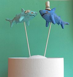 Shark wedding cake topper - Shaun's favorite creature
