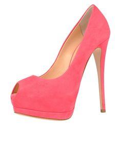Ladies shoes Giuseppe Zanotti pink platform pump 2743 |Pink Heels|