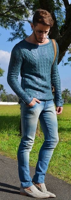 Love the color of the sweater, and the fit of the pants!