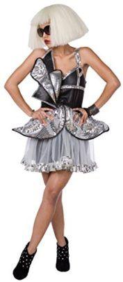 2018 Living Fiction Lady Diva Gaga Women Costume, Silver Black, X-Small and more Pop Star Costumes for Women, Women's Halloween Costumes for Lady Gaga Costume, 60s Costume, Flapper Costume, Costume Shop, Pop Star Costumes, Cute Halloween Costumes, Cool Costumes, Costumes For Women, Toms Style