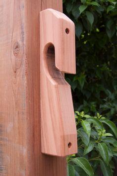 Valla de madera o pared montar suspensión del por ShakyJayCreations