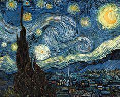 Vincent van Gogh Yıldızlı Gece / The Starry Night 1889. Tuval üzerine yağlıboya. 73.7 x 92.1 cm. Museum of Modern Art, New York.
