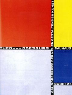 laszlo moholy-nagy + theo van doesburg | bahaus book cover