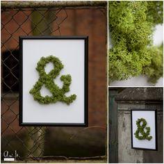 """""""Żywy"""" plakat z mchem. / Moss poster."""