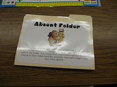 Absent folder is put on my absent student's desk.  The students at their table will make sure they get all of the work we do that day put in their folder.  I do check their folder at the end of the day and make sure there are not tests or activities that can only be done whole class.