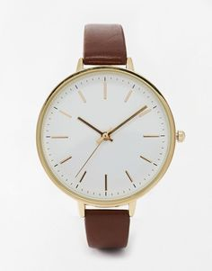 ASOS | ASOS Sleek Large Face Watch at ASOS