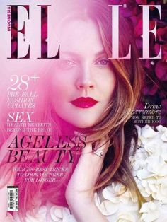 Drew Barrymore - Elle Magazine Cover [Indonesia] (1 August 2013)