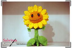Free crochet pattern Sunflower (Plants vs Zombies)