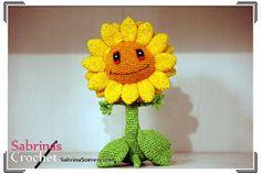 Free crochet pattern Sunflower (Plants vs Zombies)