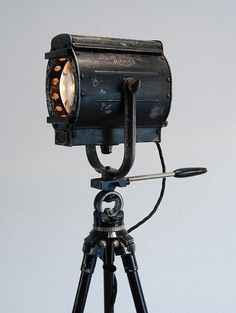 Unique beauty - 30's Vintage Theater movie Stage Light Spotlight   by PhotonicStudio – We collect similar unique beauties – Only/Once – www.onlyonceshop.com