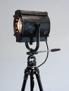 Unique beauty - 30's Vintage Theater movie Stage Light Spotlight   by PhotonicStudio –We collect similar unique beauties – Only/Once – www.onlyonceshop.com