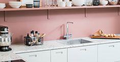 Keittiötrendit 2020 - keittiön valloittavat värit ja mullistavat kodinkoneet - Keittiötrendit 2020   Kalustetukku Double Vanity, Pantone, Kitchen Cabinets, Bathroom, Home Decor, Washroom, Decoration Home, Room Decor, Cabinets
