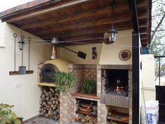 fotos de hornos de barro y parrilleros - Buscar con Google Outdoor Oven, Space Architecture, Fireplace Design, Country Decor, Outdoor Living, Sweet Home, Backyard, Barbecue, Google