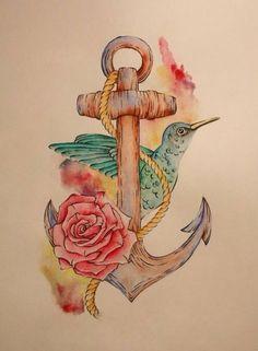 Anchor tattoo design