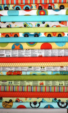 SALE....10% OFF  from Kellie Wulfsohn for Riley Blake, Peak Hour -Fat Quarter bundle of in stock fabrics, 19 total. $49.74, via Etsy.