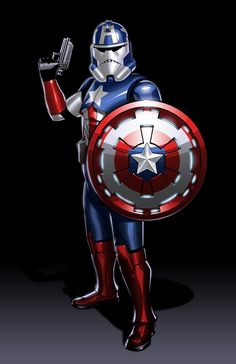 The Avengers Redesigned as 'Star Wars' Clone Troopers