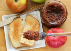 I love, love, love apple butter. Slow Cooker Apple Butter from Dorothy at Shockingly Delicious