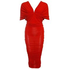 Pre-owned red off shoulder wrinkled evening dress ($1,270) ❤ liked on Polyvore featuring dresses, red, red dresses, red cocktail dress, acetate dress, off shoulder cocktail dress and pre owned dresses