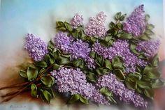 I ❤ ribbonwork . . . Gallery.ru / Lilacs- Embroidery- silkfantasy