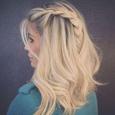blonde + braid