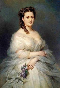 Anna (nee Princess Anna Murat) de Noailles, Duchesse de Mouchy 1862. Daughter of Prince Lucien Murat, himself the son of Marshal Murat and Caroline Bonaparte, sister of Napoleon I. Duchess and Princess of Poix, Duchess of Mouchy by virtue of her marriage to Antoine de Noailles.