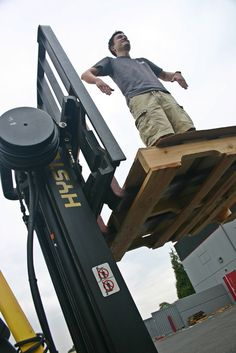 """An impression of the """"what not to do on the #forklift"""" sticker."""