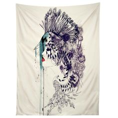Holly Sharpe Peacock Girl II Tapestry | DENY Designs Home Accessories