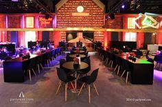 Die Award-Location präsentiert sich im Stil der neuen Warsteiner-Markenfarbe schwarz