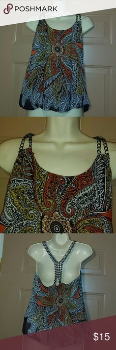 """ROMEO & JULIET COUTURE CHAIN TOP-SIZE S-CUTE!!! -Romeo & Juliet Couture Top -Size Small -Perfect Condition, worn about two times -Straps are made with chains -Balloon hem -Fully Lined -Armpit to armpit measures 17"""" -Shoulder to bottom hem measures 27"""" (with balloon hem) -SUPER CUTE!!!! Romeo & Juliet Couture Tops"""