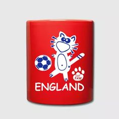 England United Kingdom Coffee Tea Mug Cat Soccer  - Full Color Mug