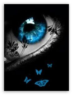 Blue Butterfly Eye