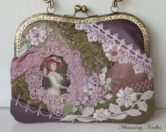 Crazy quilted purse