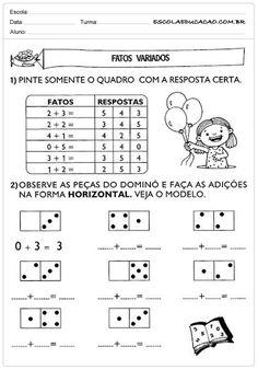 Atividades de Matemática 1º ano - Fatos variados