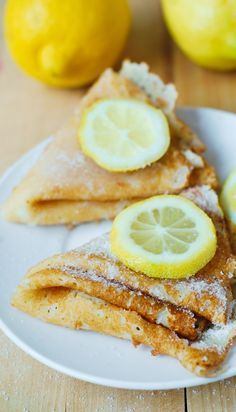 Lemon Sugar Dessert Crepes - easy-to-make and so delicious!
