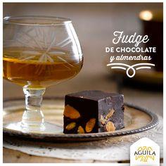 Fudge de #chocolate y almendras