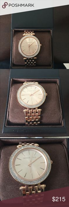 Beautiful Michael Kors Rose Gold Watch NEW in box Gorgeous Rose Gold Michael Kors Watch! Never worn. Still in box. Limited edition. Beautiful! Offers welcome! Michael Kors Accessories Watches