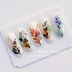 Acrylic Nail Designs, Nail Art Designs, Acrylic Nails, Aqua Nails, My Nails, Kawaii Nail Art, Water Color Nails, Nail Stencils, Basic Nails