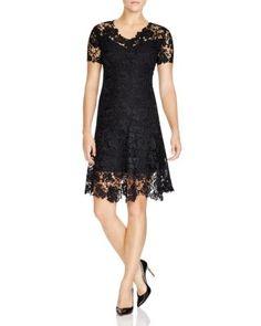 1862f5284931c Elie Tahari Samira Floral Lace Dress   Bloomingdale's Black Evening Dresses,  Formal Dresses, Floral