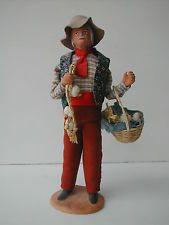 * SANTON DE PROVENCE LE MARCHAND D'AIL SIGNE SANTONS C. ESCOFFIER Polymer Clay Figures, Miniature, Creatures, Paper, Daycares, Garlic, Earth, Characters, Miniatures