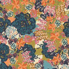 Jan. 12. English Garden Serene, from Splendor 1920 by Bari J. for Art Gallery Fabrics