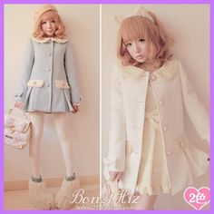 Princess sweet lolita coat BOBON 21 Soft amo high quality lace removable collar bow pleated long overcoat outerwear c0920