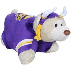 NFL Minnesota Vikings Pillow Pet by Fabrique Innovations. $25.01. The NFL® Pillow Pet™ is a cozy way to snuggle up during the next game. It starts as a pillow, but when you fold and strap this character from your favorite team, you have a pet! It's super soft all over and features NFL® team graphics.. Save 17% Off!