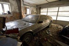 An abandoned DeLorean