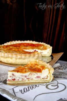 Tartas sin Gluten .....365 dias sin gluten: Quiche de Beicon y Queso