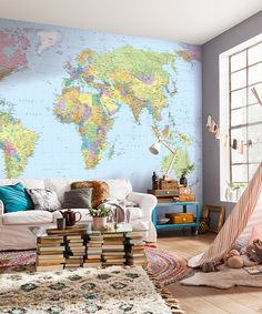 Look what I found on #zulily! World Map Mural #zulilyfinds