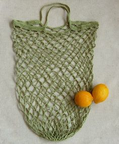 Whit's Knits: Crocheted Linen Grocery Tote - The Purl Bee - Knitting Crochet Sewing Embroidery Crafts Patterns and Ideas!