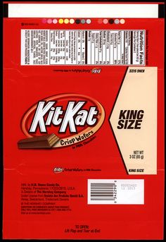 Hershey - Kit Kat - King Size - candy package wrapper - 2012 by JasonLiebig, via Flickr