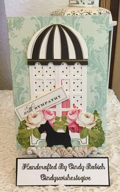 Sympathy Card / Made with Anna Griffin Window Ledge Card Makings Kit / Handcrafted By Cindy Babich (cindyswishestogive Window Ledge, Window Frames, Sympathy Cards, Greeting Cards, Anna Griffin Cards, Card Making Kits, Window Cards, Shaker Cards, Pop Up Cards
