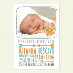Oznámenie o narodení dieťaťa. Oznámte, že sa vám narodilo bábätko vo veľkom štýle s naším jedinečným oznámením.